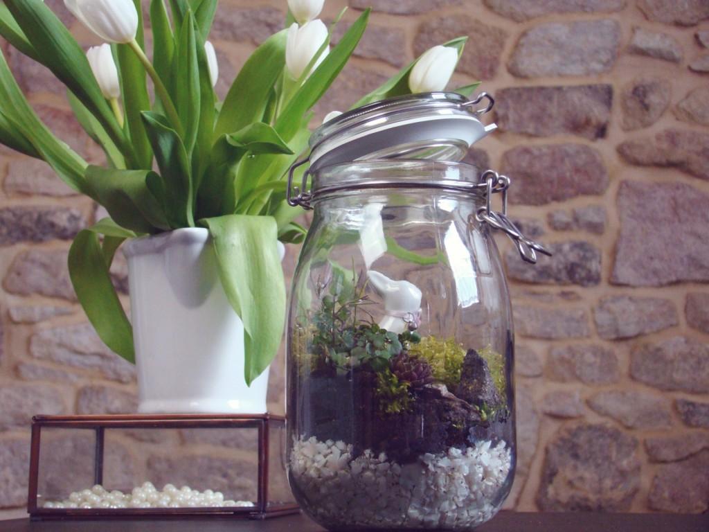 Osterdeko DIY Fairy Garden Pflanzenglas