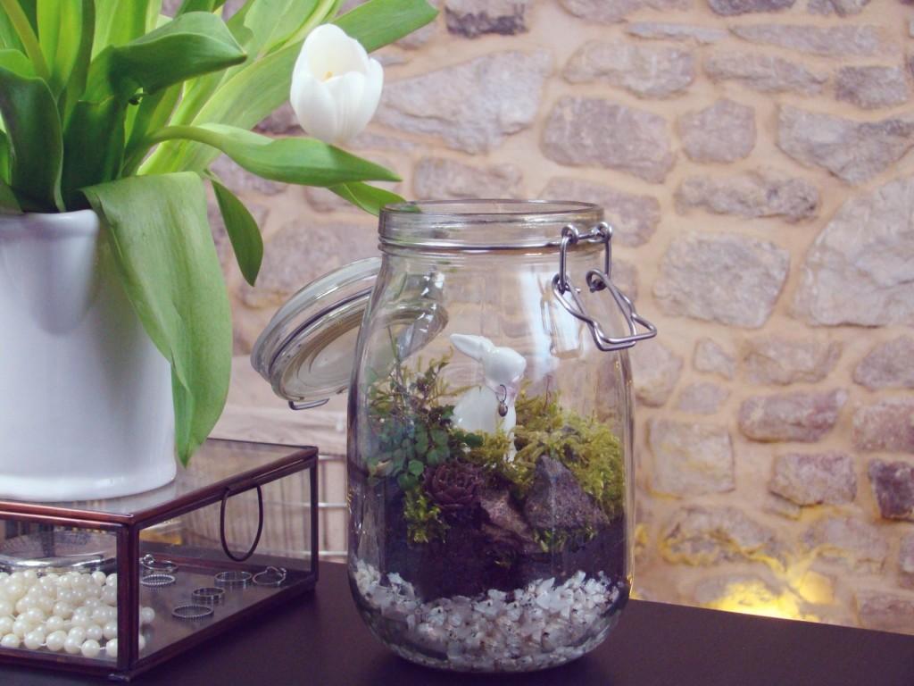 Osterdekoration DIY Garten im Glas