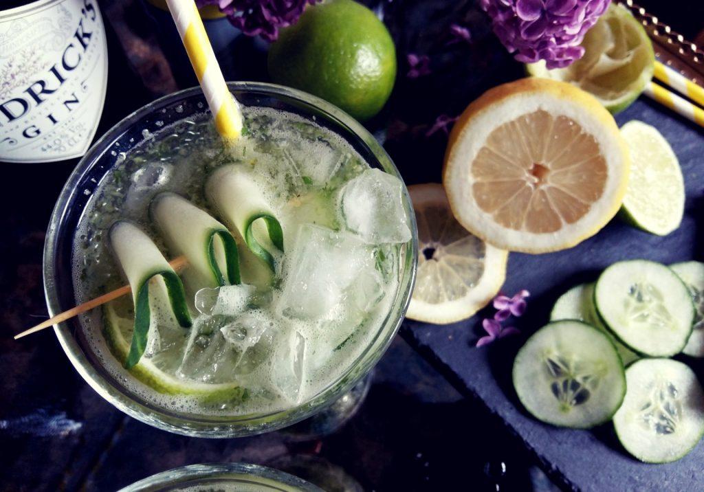 Matcha Mint Cooler Cocktail mit Gin -003
