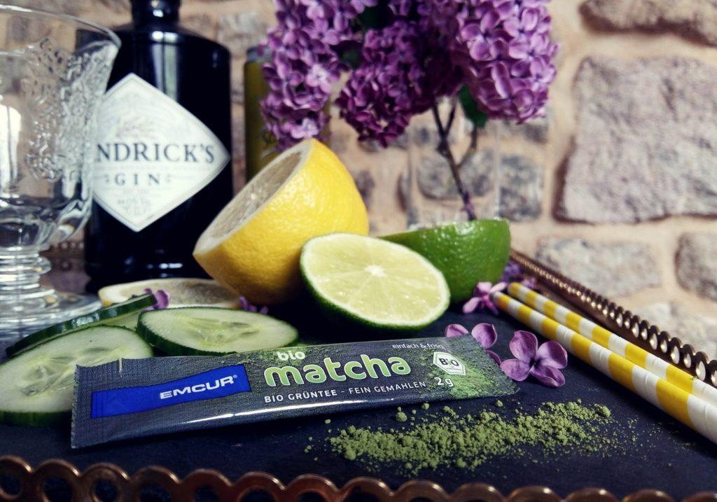 Matcha Mint Cooler Cocktail mit Gin -004