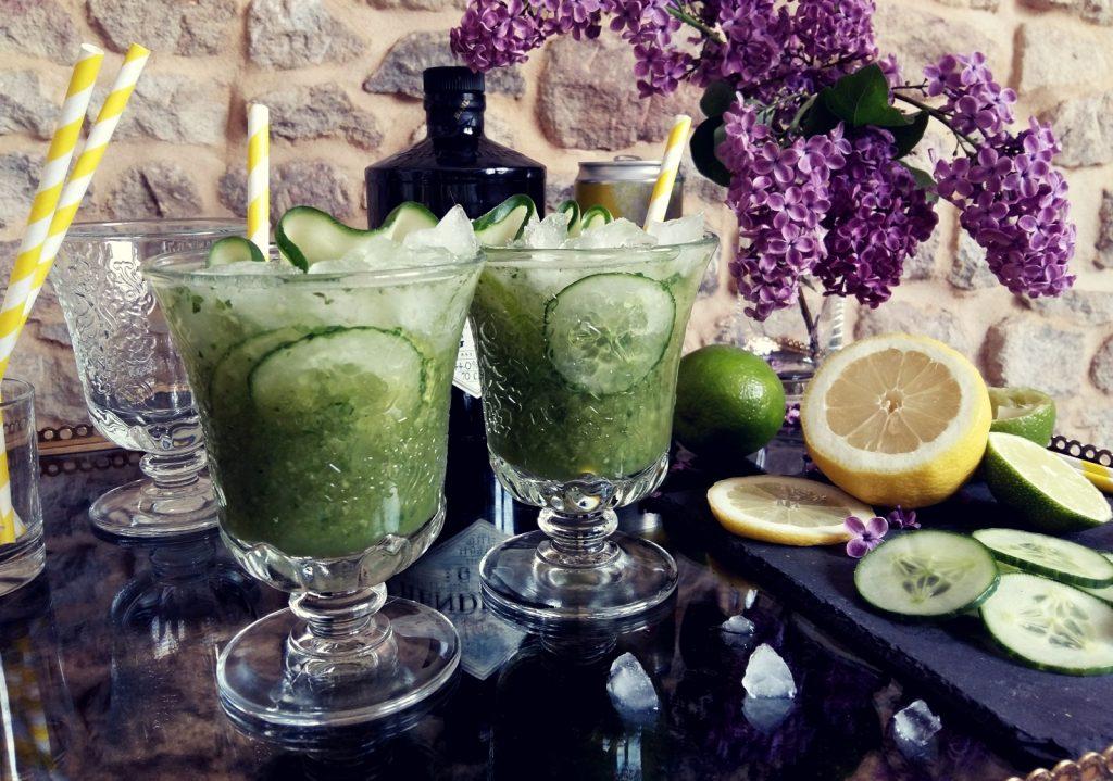 Matcha Mint Cooler Cocktail mit Gin -005