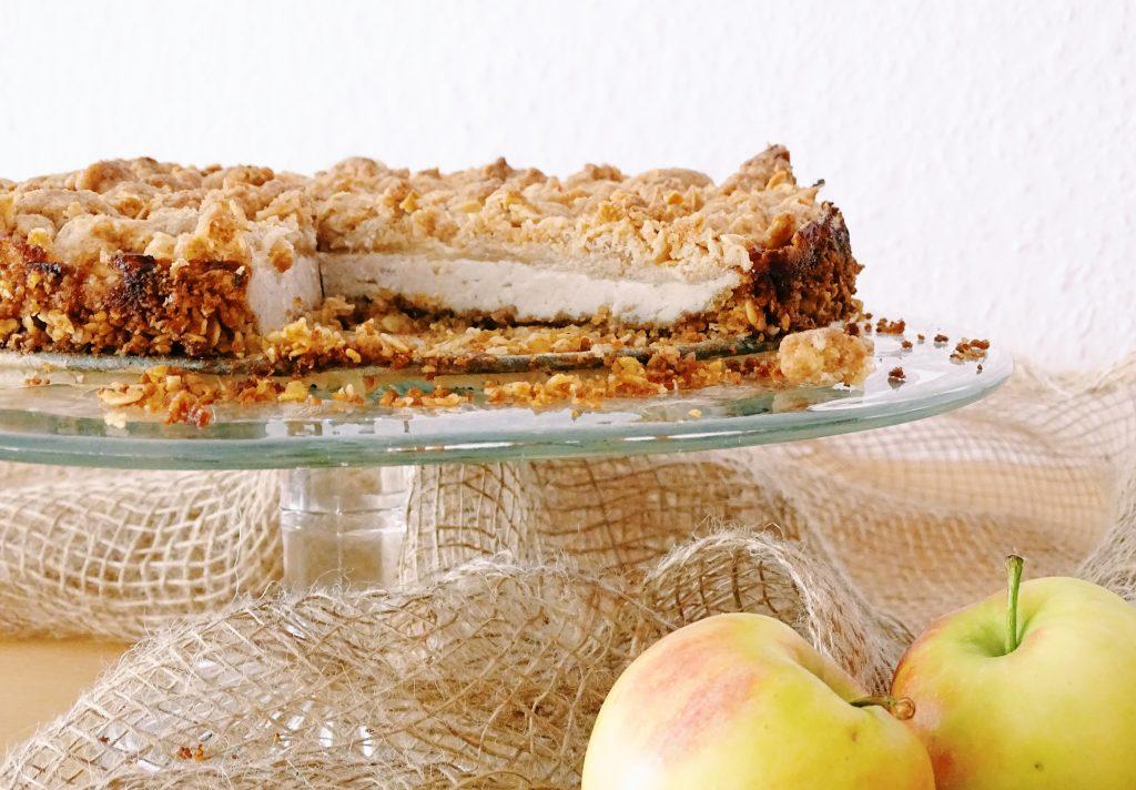 Frischkäse Käsekuchen Apfel-Cheesecake