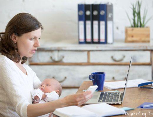 arbeitende Mama