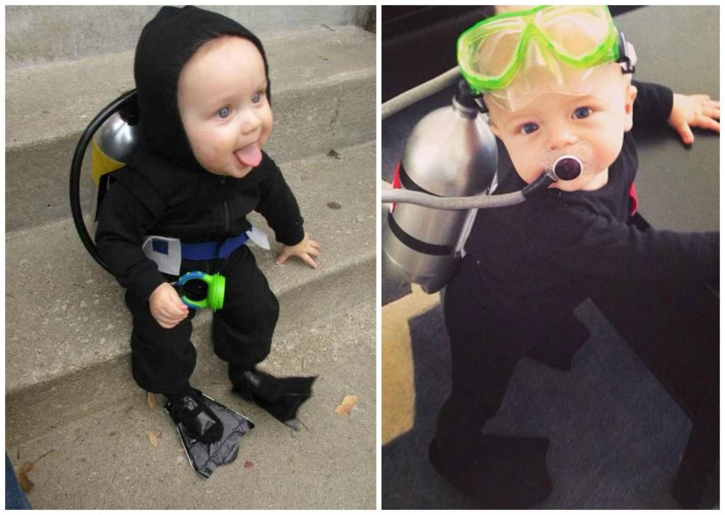 Kostümidee kleinkind taucher