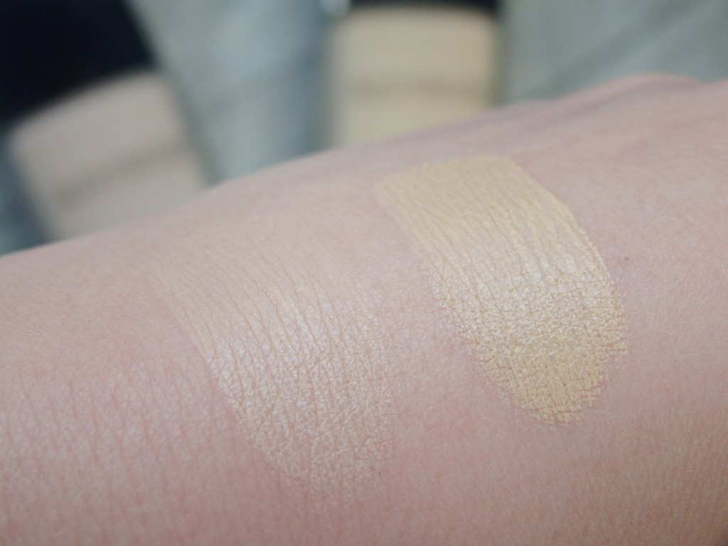 Laura Mercier Swatches Candleglow Foundation Shell Ivory