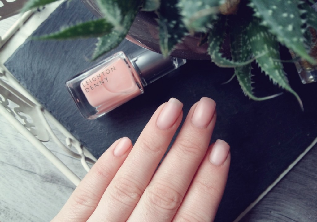 Leighton Denny matte Nude nails VIP Collection Front Row