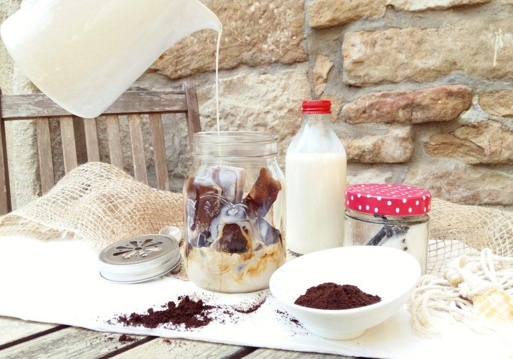 Eis Kaffee selbst machen Iced Coffee Frappuchino DIY -002
