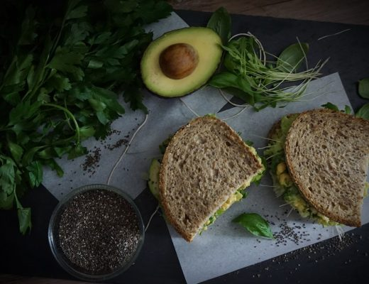 Green Power Avocado Chickpea Sandwich