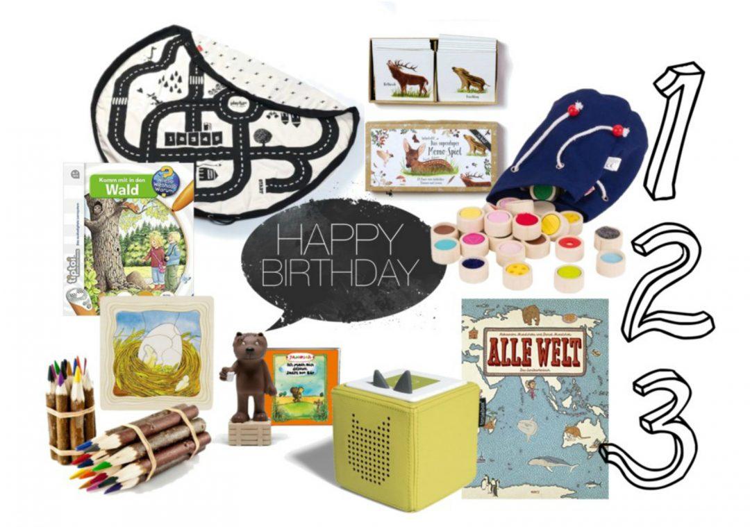 Geschenkideen zum 3. Geburtstag (und Weihnachten)