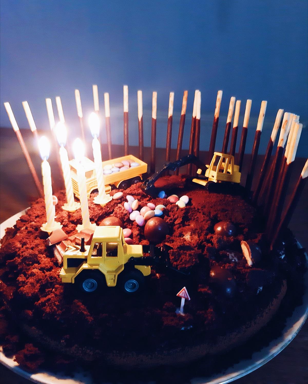 Baustellen Geburtstagskuchen Abriss Party Zum 4 Geburtstag